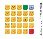 cute cat emoji emoticon smiley... | Shutterstock .eps vector #1029026320