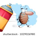 fanny  cute cartoon cockroach... | Shutterstock .eps vector #1029026980