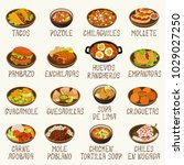mexican cuisine vector set | Shutterstock .eps vector #1029027250