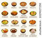 mexican cuisine vector set | Shutterstock .eps vector #1029027250