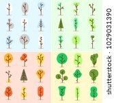 symbols trees vector | Shutterstock .eps vector #1029031390