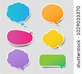 colorful speech bubbles set  | Shutterstock . vector #1029033370