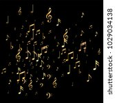 shimmering music note... | Shutterstock .eps vector #1029034138