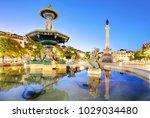 rossio square in lisbon portugal | Shutterstock . vector #1029034480
