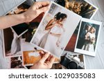 printed wedding photos with the ... | Shutterstock . vector #1029035083