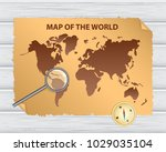 old world map with vintage... | Shutterstock .eps vector #1029035104