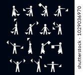 alphabet   flag semaphore...   Shutterstock .eps vector #1029036970
