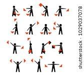alphabet   flag semaphore... | Shutterstock .eps vector #1029037078