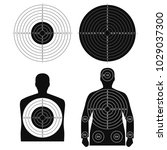 collection of different targets ...   Shutterstock .eps vector #1029037300