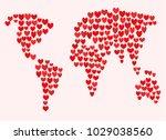 vector illustration. valentine... | Shutterstock .eps vector #1029038560