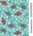 seamless floral pattern | Shutterstock .eps vector #1029039853