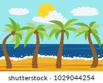 cartoon nature landscape with... | Shutterstock .eps vector #1029044254