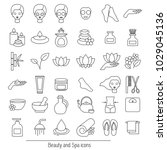 vector set of icons for spa ... | Shutterstock .eps vector #1029045136