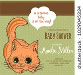 baby shower card template with...   Shutterstock .eps vector #1029045334