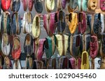 traditional design turkis shoes | Shutterstock . vector #1029045460