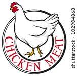 chicken meat label | Shutterstock . vector #102904868