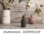 home cozy corner  two empty...   Shutterstock . vector #1029051169