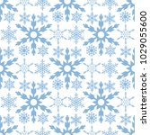 snowflake seamless pattern... | Shutterstock .eps vector #1029055600