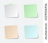 set of paper stickers with... | Shutterstock .eps vector #1029056956