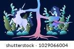 sleek illustration of magic... | Shutterstock .eps vector #1029066004
