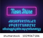 realistic neon vector script... | Shutterstock .eps vector #1029067186