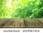 empty wooden table for product... | Shutterstock . vector #1029067414