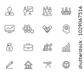 business icons  vector | Shutterstock .eps vector #1029067516