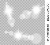 sun light bokeh lens set... | Shutterstock .eps vector #1029069100