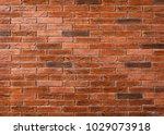 brick wall texture on rustic... | Shutterstock . vector #1029073918