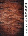 red brick wall texture grunge... | Shutterstock . vector #1029073954