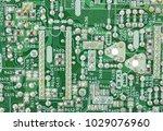 closeup of electronic circuit... | Shutterstock . vector #1029076960