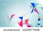 abstract background polygonal....   Shutterstock . vector #1029077608