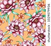 seamless hand drawn artistic... | Shutterstock . vector #1029079936