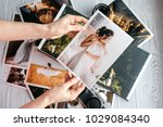 printed wedding photos with the ... | Shutterstock . vector #1029084340