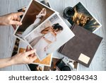 printed wedding photos with the ... | Shutterstock . vector #1029084343