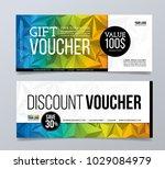 gift and discount voucher... | Shutterstock .eps vector #1029084979