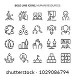 human resources  bold line... | Shutterstock .eps vector #1029086794