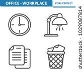 office   workplace icons.... | Shutterstock .eps vector #1029087814