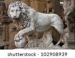 Statue Of A Lion At Signoria...