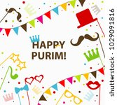 template jewish holiday purim... | Shutterstock .eps vector #1029091816