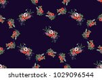 seamless pattern floral... | Shutterstock .eps vector #1029096544