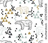 seamless tribal pattern with... | Shutterstock .eps vector #1029100618