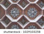 ancient engraved wooden  doors... | Shutterstock . vector #1029103258