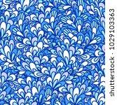 seamless pattern with bushy... | Shutterstock .eps vector #1029103363