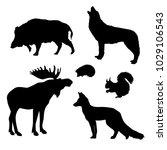wild animal icon  | Shutterstock .eps vector #1029106543