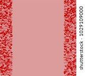 heart shape vector which... | Shutterstock .eps vector #1029109000