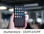 february 2018  riga   a... | Shutterstock . vector #1029114199
