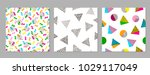 colorful geometric seamless... | Shutterstock .eps vector #1029117049