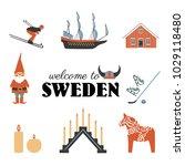 swedish vector traditional... | Shutterstock .eps vector #1029118480