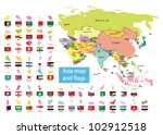 asia map  and countries with... | Shutterstock .eps vector #102912518